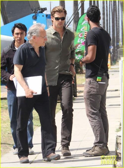 Chris Hemsworth On The Set Of 'Cyber'